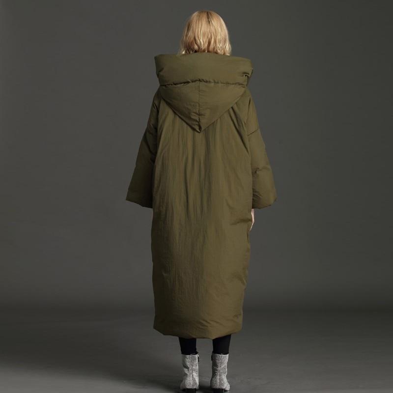 De 7xl Neige 2018 Épais Vêtements Duvet Des Survêtement D'hiver Plus black Taille La Long Chaud Veste Green Okq014 Canard D'oie Femme Parka Xs Plume Manteau qfdwv81Xv