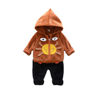 2018 Children Tracksuit Christmas Outfits Kids Winter Clothes Sports Suits Warm Hooded Coat+Pants 2pcs Brand Girls Boys Clothes