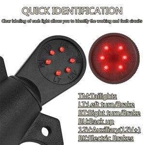 Image 3 - 7 RV ostrze okablowania Tester obwodów hak przyczepy złącze LED wtyczka okrągły
