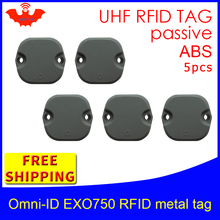UHF RFID metal tag omni-ID EXO750 915mhz 868mhz Impinj Monza4QT EPC 5pcs free shipping durable ABS smart card passive tags