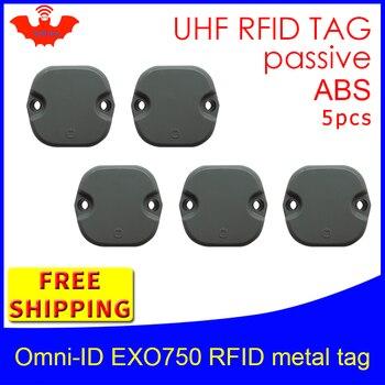 цены UHF RFID metal tag omni-ID EXO750 915mhz 868mhz Impinj Monza4QT EPC 5pcs free shipping durable ABS smart card passive RFID tags