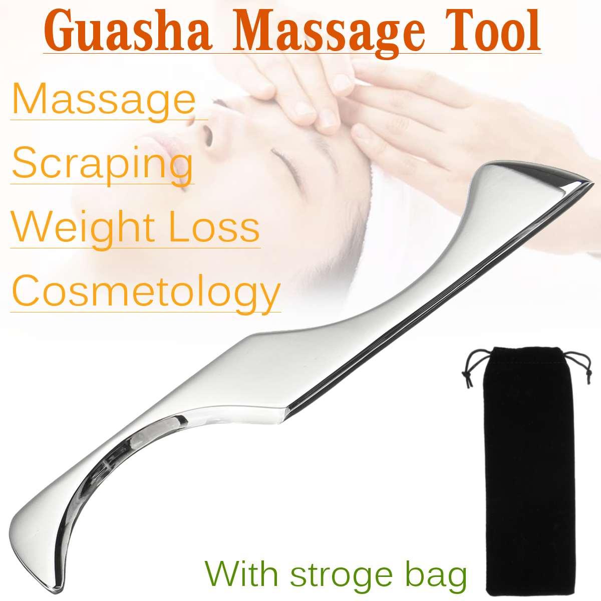 304 Edelstahl Gua Sha Bord Massager Werkzeug Guasha Schaber Physikalische Therapie Lose Muscle Meridian Massage SPA Körper Gesundheit
