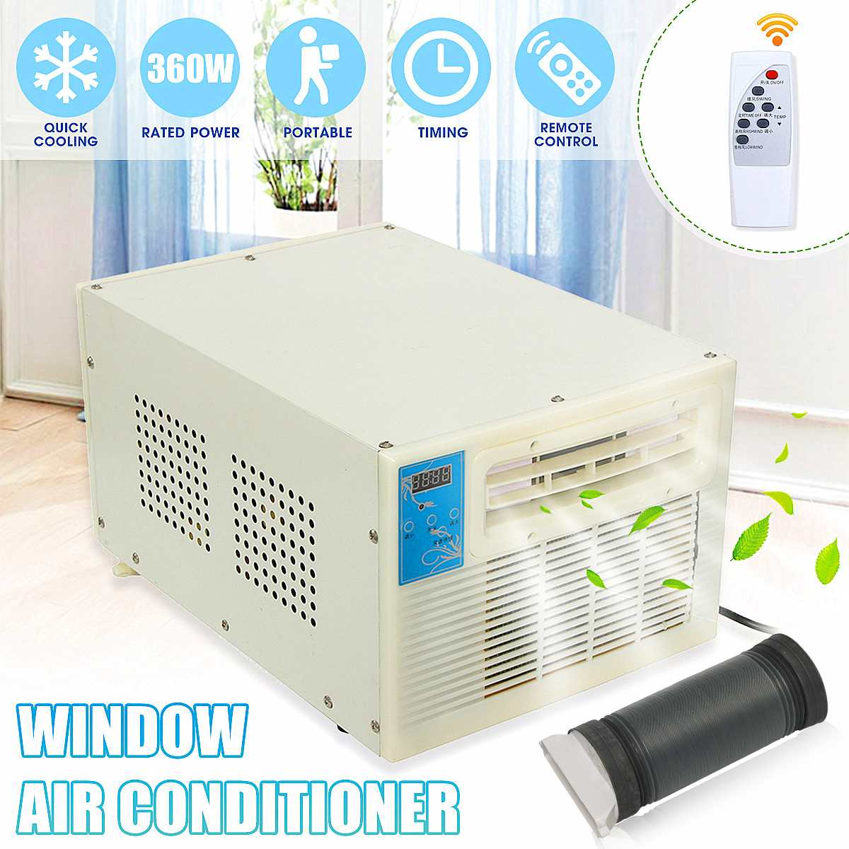 Newest 900W IPX4 Desktops Air Conditioner Window Air Conditioner Mini Household Air Cooler Air Conditioner With Remote Control