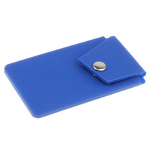 Lovoski Silicone Cell Phone Wallet Case Credit ID Card Holder with Stand blue(China)
