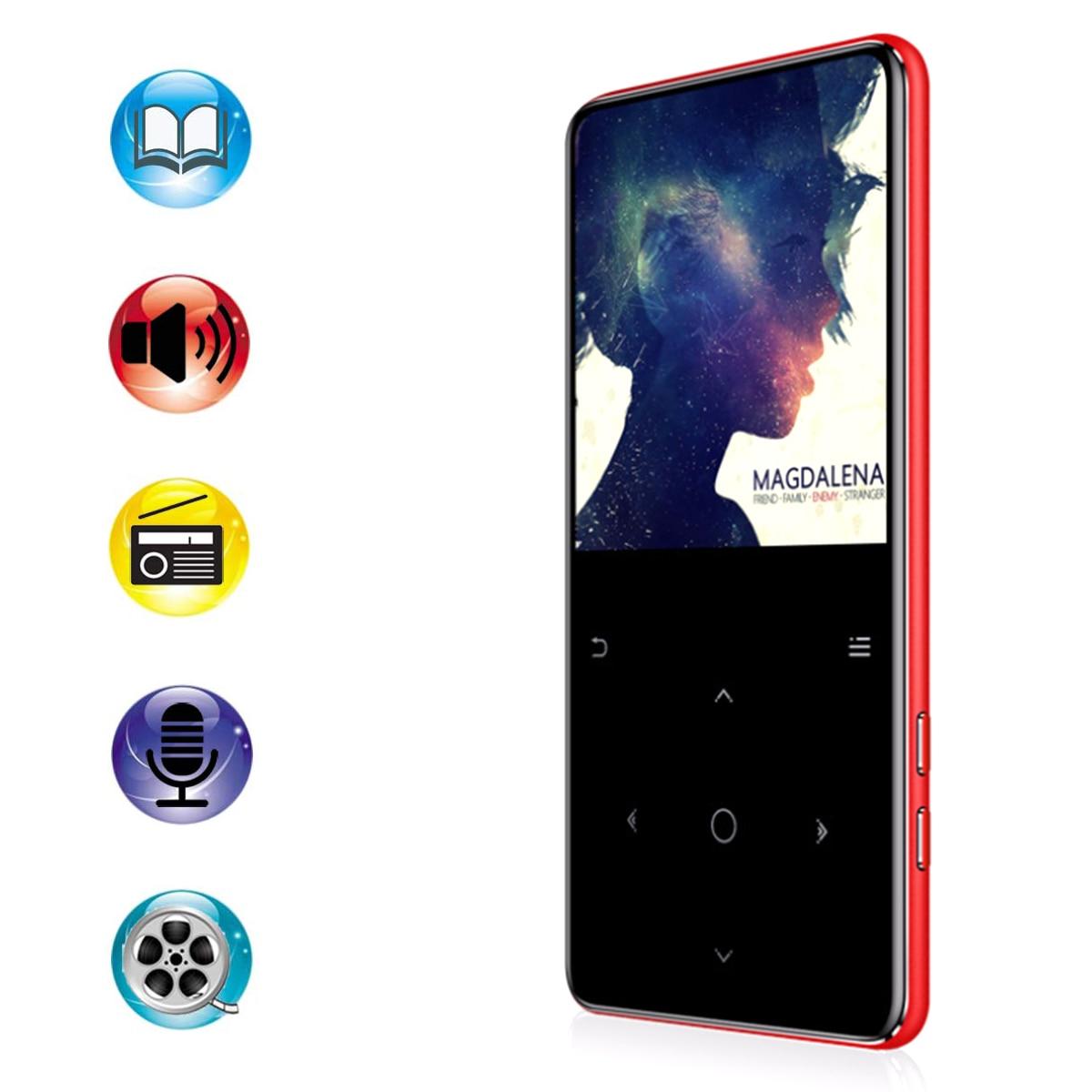 Lecteur MP3 Portable Bluetooth HiFi 2.4 pouces écran tactile lecteur multimédia de musique multifonctionnel enregistreur vocal FM prise en charge carte SD TF