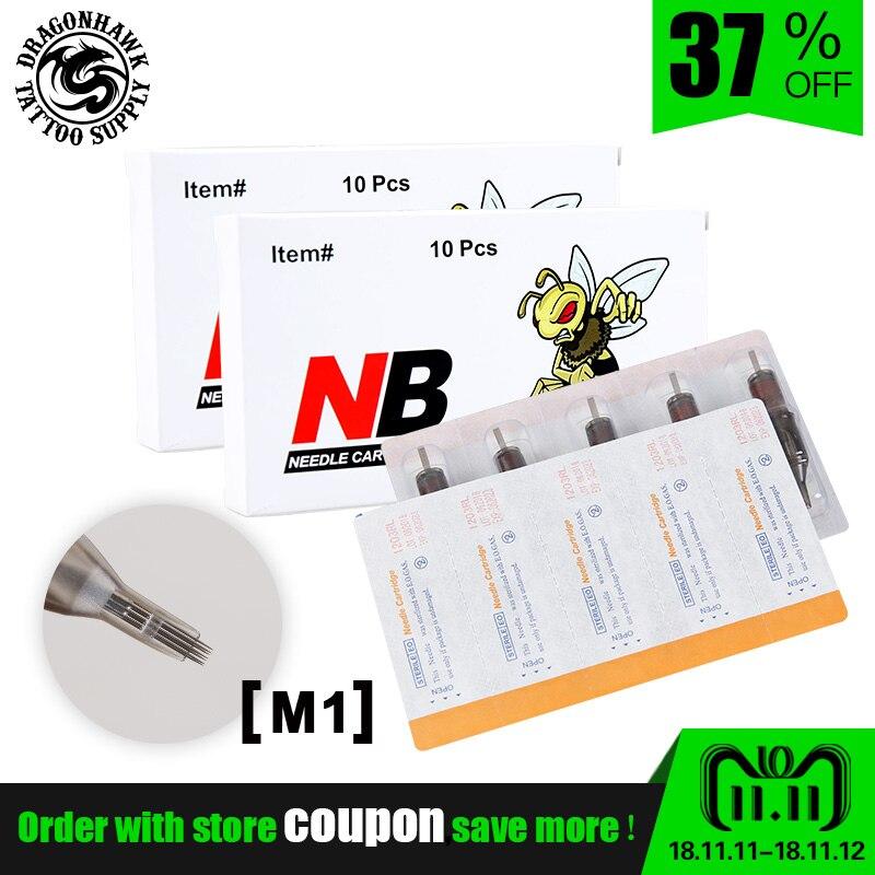 Sterile Needles M1 0.35mm Tattoo Cartridge Needles For Tattoo Rotary Pen Magnum Supplies 20pcs/ Lot 20pcs lot ls30 to252
