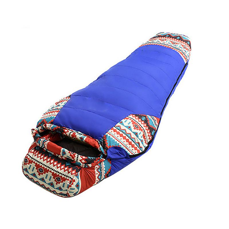 Adult Mummy Down-Filled Sleeping Bag Outdoor Camping Spring & Winter Style Duck Down-Filled Sleeping Bag gazelle outdoors apply spring autumn winter camping outdoor mummy sleeping bags