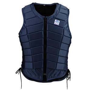 Vest Body-Protector Equestrian Horse-Riding Dark-Blue Waistcoat Safety Adults Kids