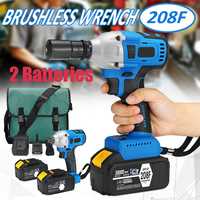 Electric Screwdriver Brushless Cordless Drill Wireless Electric Wrench Impact Power Tools With 2 Batteries 15000/20000/30000mAh