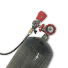 2017 New airforce condor 9L 30Mpa 4500psi carbon dive tank/wrapped fiber empty gas cylinder& valve & fill station on promotion-V