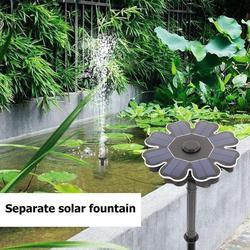 Zasilana energią słoneczną fontanna słoneczna pompa stawowa Panel woda pływająca fontanna bezszczotkowa pompa wodna zestaw do oczko wodne staw fontanna ogrodowa Fontanny i poidła dla ptaków Dom i ogród -