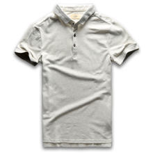 Classic Polo Shirt Men Short Sleeve Polo Shirts Summer Cotton Breathable Turn Down Collar Vintage Grey(China)