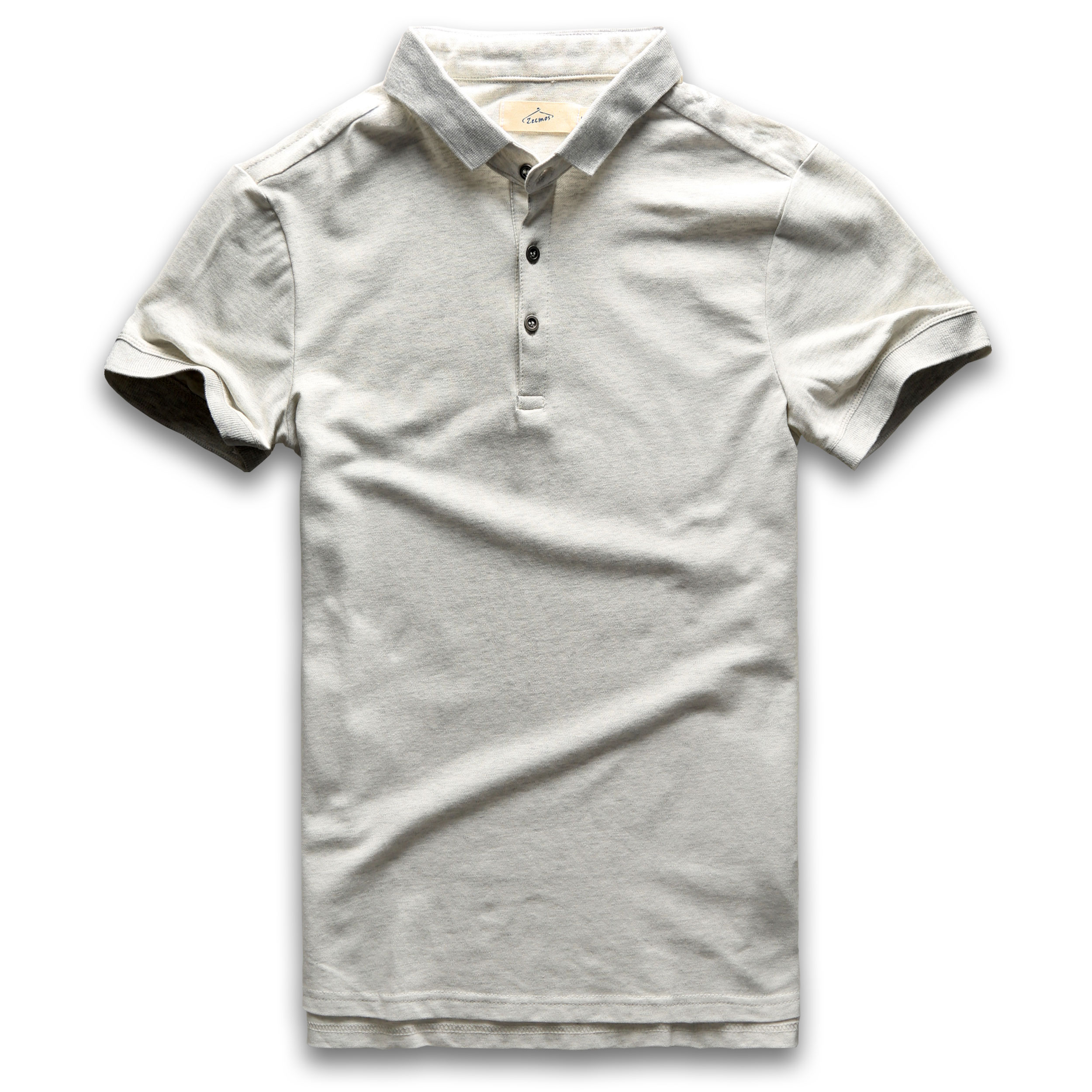 Classic   Polo   Shirt Men Short Sleeve   Polo   Shirts Summer Cotton Breathable Turn Down Collar Vintage Grey