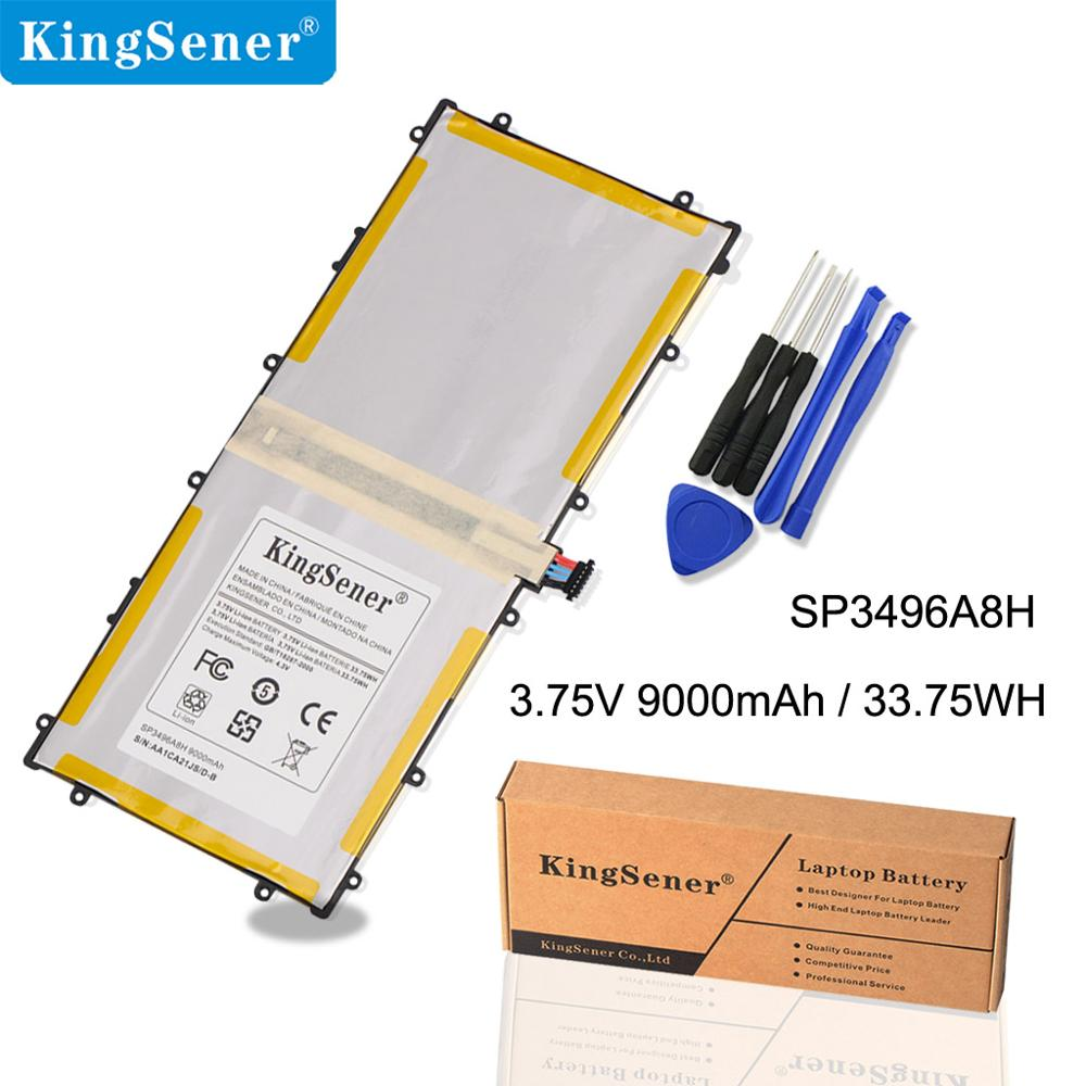 KingSener SP3496A8H Batteri För Samsung Google Nexus 10 N10 Tablet PC för Samsung GT-P8110 HA32ARB Tablet Batteri 3,75V 9000mAh