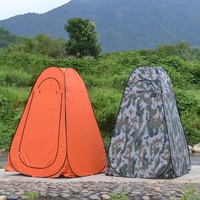Portable Outdoor 1 2 persons Folding Pop Up Tent Camping Beach Toilet Shower Dressing Changing Room Outdoor Shelter 2 Window