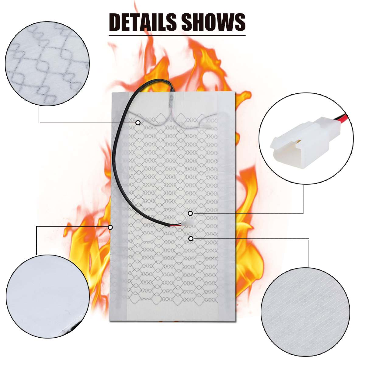 medium resolution of 12v universal car heat pad seat covers carbon fiber heated auto car seat heating pad for winter warmer vehicle heater mat in automobiles seat covers from