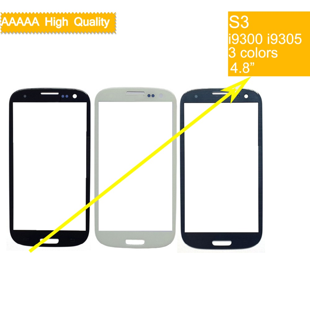 10Pcs lot For Samsung Galaxy S III S3 GT I9300 I9300 i747 i9305 Touch Screen Front Glass Panel TouchScreen Outer Glass Lens in Mobile Phone Touch Panel from Cellphones Telecommunications