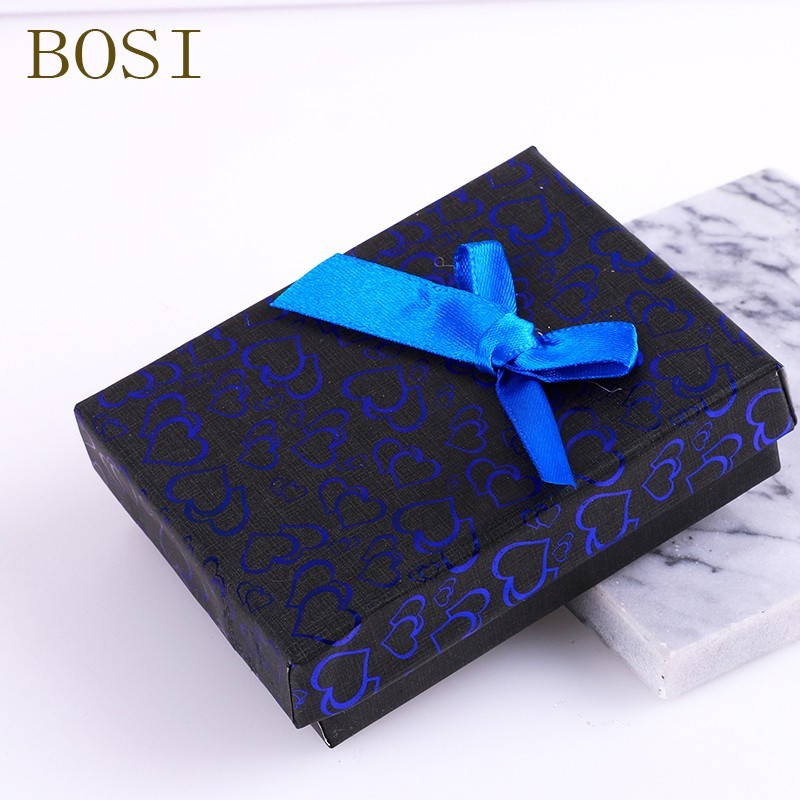 Box Heart 2019 New Hot Engagement Ring Earrings Necklace Bow Square Jewelry Organizer Display Gift Holder Red Navy Black Pink CC