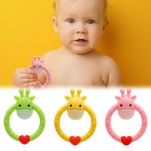 1pcs Baby Teethers Pacifier Cartoon Deer Teething Nursing Silicone Molar Toys Fr