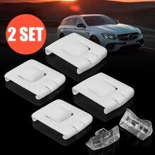 2 комплекта 6 шт. Сиут сиденье пряжка клип бегун руководство 435881203A C10 для VW GOLF MK1 MK2 MK3 CORRADO SCIROCCO Белый пластик