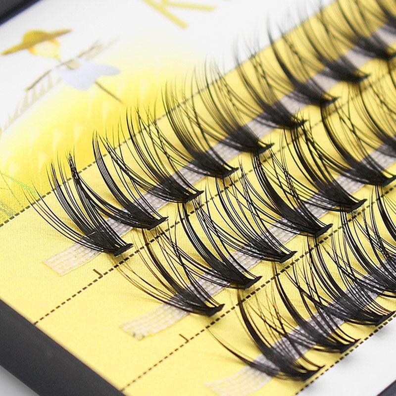 Kimcci Eyelash-Extension Makeup Mink 60-Bundles 3d-Russian-Volume Cilios Natural Individual-20d
