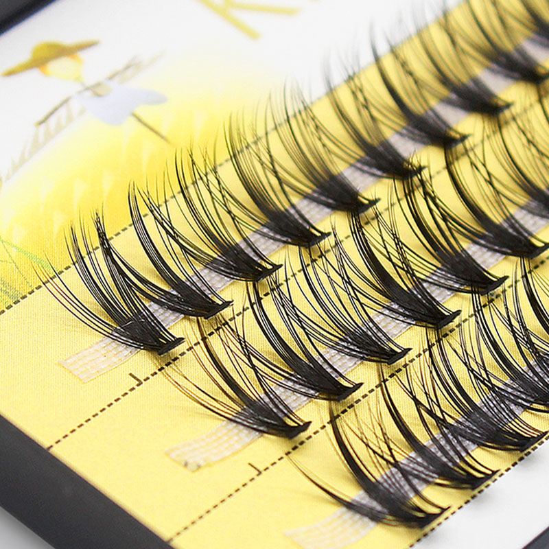 Kimcci 60 Bundles Mink Eyelash Extension Natural 3D Russian Volume Faux Eyelashes Individual 20D Cluster Lashes Makeup Cilios