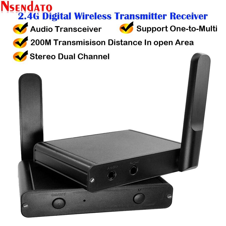 200 メートル 2.4 Ghz ハイファイデジタルワイヤレスオーディオアダプターミュージックサウンドワイヤレス無線 Lan 送受信機と 3.5 ミリメートルオーディオケーブル ipad のワイヤレスアダプタ   -
