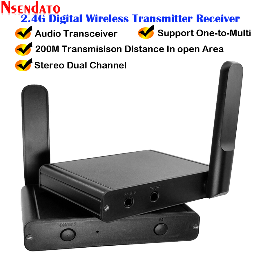 200M 2 4Ghz Hifi Digital Wireless Audio Adapter Music Sound Wireless Wifi Transmitter Receiver With 3 5mm Audio Cable For iPad