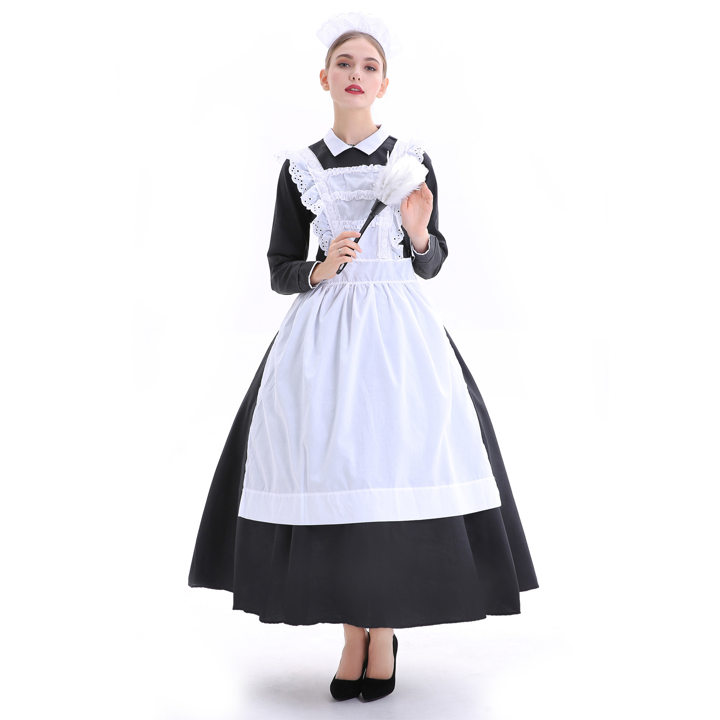 Women Maid Cosplay Costume France Manor Maid Dress Outfit Role Play Game clothing halloween party dresses