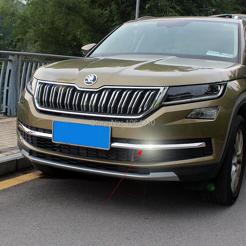 MONTFORD Auto Stainless Steel Car Front Racing Grills Bumper Mesh Grille Around Trim Cover 2Pcs For Skoda Kodiaq 2017 2018 2019MONTFORD Auto Stainless Steel Car Front Racing Grills Bumper Mesh Grille Around Trim Cover 2Pcs For Skoda Kodiaq 2017 2018 2019
