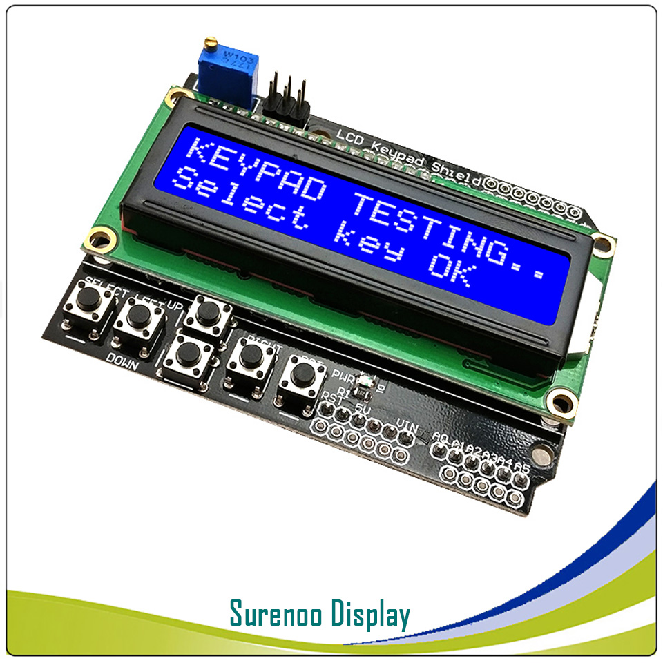 best top 10 lcd keypad shield 16 2 display for arduino