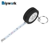Diywork 1m fita medida para viajar acampamento chaveiro régua mini retrátil fita ferramenta de costura pneu forma centímetro/pés|Fita métrica|Ferramenta -