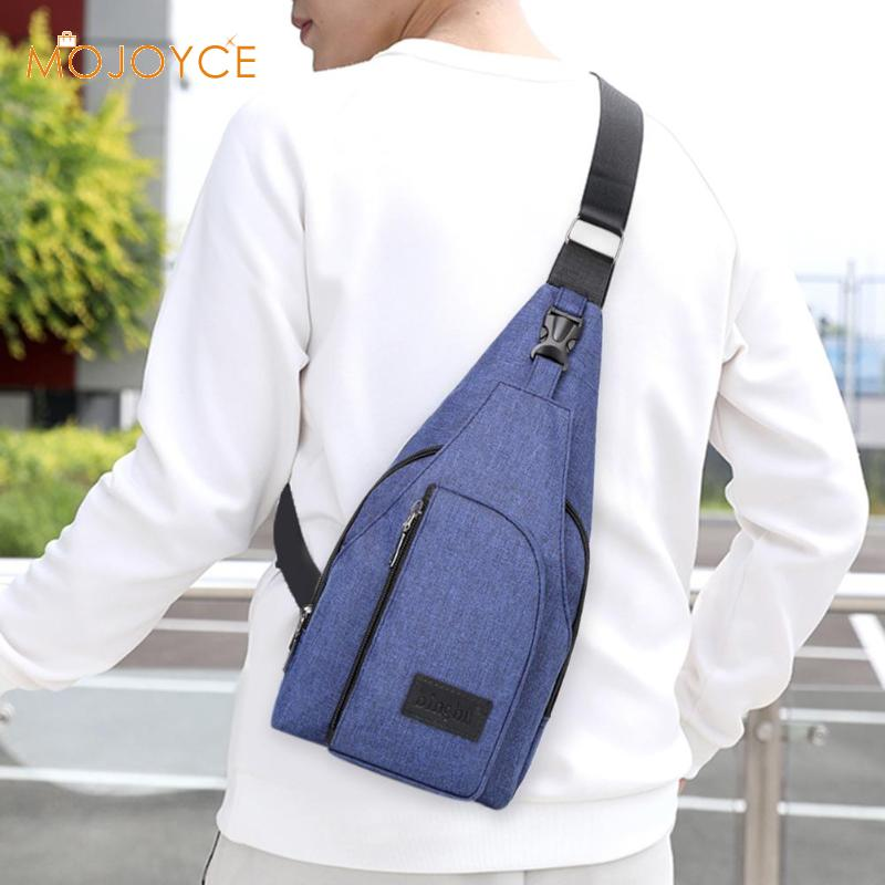 Male Fashion Waterproof Boys Shoulder Messenger Bags Men Simple Oxford Solid Color Casual Travel Crossbody Chest Bags New