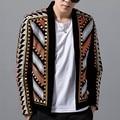 Модный мужской блейзер, пиджак, цветной вязаный свитер, блейзер Masculino Erkek, Мужской Блейзер, вечерние блейзеры для сцены, Клубные дизайнерские...