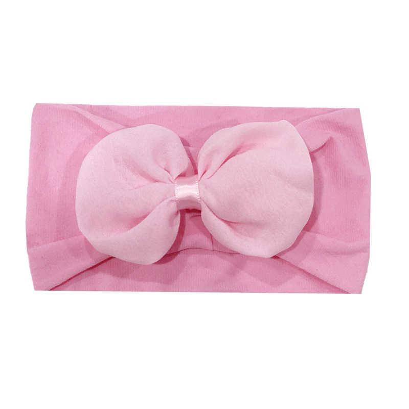 ใหม่แฟชั่นเด็กผู้หญิง Headbands โบว์ผมเด็กทารกแรกเกิดเด็กทารกเจ้าหญิงโบว์โบว์ใหญ่ไนลอน Headband ผม Band hairband