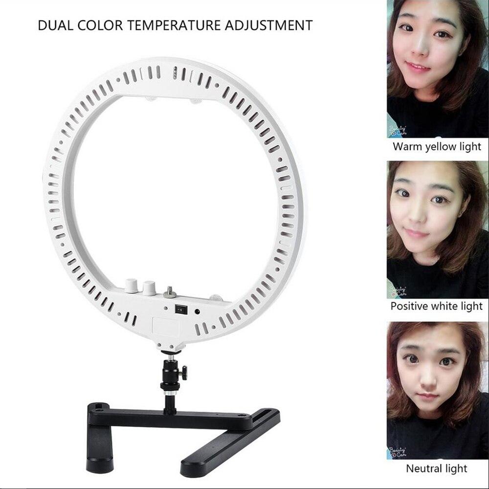 Dimmable 14 LED Anneau Lampe Remplir Lumière avec Cosmétique Miroir Photographie Selfie Lumière pour Appareil Photo Photo Studio Vidéo En Direct Maquillage