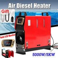 Все в одном 5000 Вт воздушные Дизели нагреватель 5 кВт 12 В в одно отверстие автомобильный нагреватель для грузовиков мотор дома лодки Автобус +