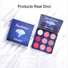 9 Color Flash Matte Colorful Eye Shadow Disc Palette High Saturation Waterproof Easy To Sm