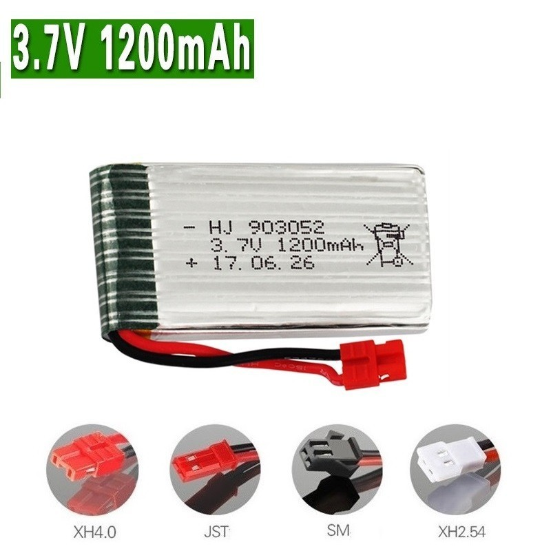 800mah/1200mAh 3.7v Lipo Battery For SYMA X5 X5S X5C X5SC X5SH X5SW M18 H5P HQ898B HQ859B H11D H11C T64 T04 T05 F28 F29 T56 T57