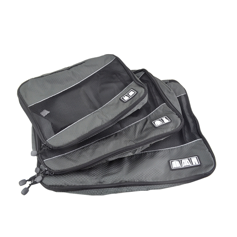 3Pcs/Set Men Travel Bag Packing Cube Clothes Pouch Foldable Duffle Bag Large Capacity Luggage Sorting Organizer Trip Accessories