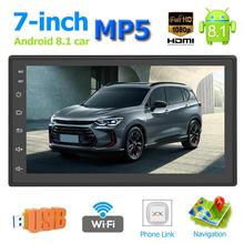 VODOOL 7 inch Car MP5 Player Capacitive Touch Screen Android 8.1 Bluetooth Car Stereo MP5 Player BT GPS Navigation FM AM Radio rk 7158b 1din mp5 car multimedia player hd 7 inch retractable touch screen am fm stereo radio tuner car monitor bluetooth sd usb