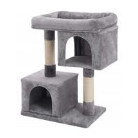 Кошка дерево с сизалем Когтеточка альпинистская рама мебель для питомцев лежанки для кошек с натуральная сизалевая веревка мягкие и удобны