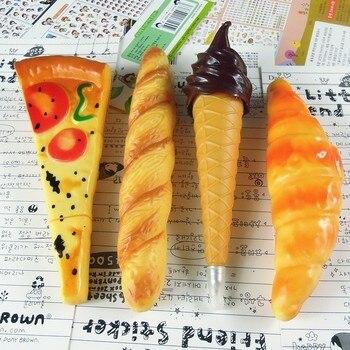 Nuevo Modelo de Pizza Peculiar divertido simulación de pan bolígrafo Creativo novedad escolar papelería de oficina suministros niños regalos