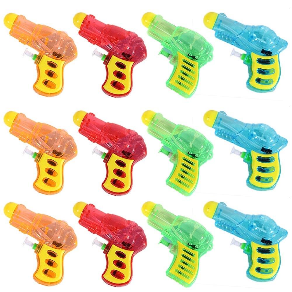 12PCS Mini Funny Plastic Water Gun Pistol Toys For Kids Children Adults Beach Swimming Pool Bath Tub Party Random Style