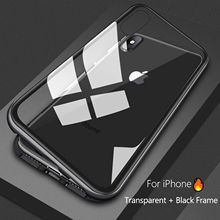 mobile cell phone shockproof cover metal bumper tempered Glass magnetic Adsorption for huawei p20