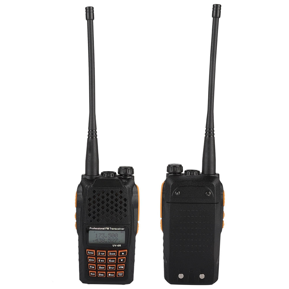 UV6R Rechargeable Voice Prompt LCD Walkie Talkie 128 Channels Two Way Radio US Plug 100-240V 7W with Battery ChargerUV6R Rechargeable Voice Prompt LCD Walkie Talkie 128 Channels Two Way Radio US Plug 100-240V 7W with Battery Charger