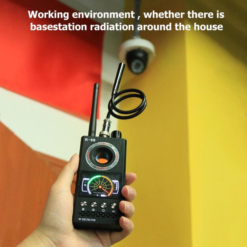 K68 Anti Eavesdroped Détecteur Sans Fil Détecteur de Signal RF Bug Finder Anti Caméra Cachée GPS Tracker Locator Multi-fonction