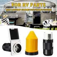 50Amp 125V /250V RV Power Supply Power Inlet Female locking Connector Caravan Boats RV Accessories
