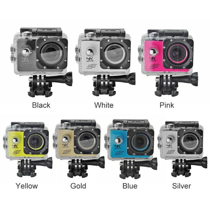 1 pièces caméra de sport SJ8000B 4 k WIFI À Distance caméra d'action 1080 p HD 16MP 4X GO PRO Style Casque Cam 30 m Étanche Sport caméra de recul