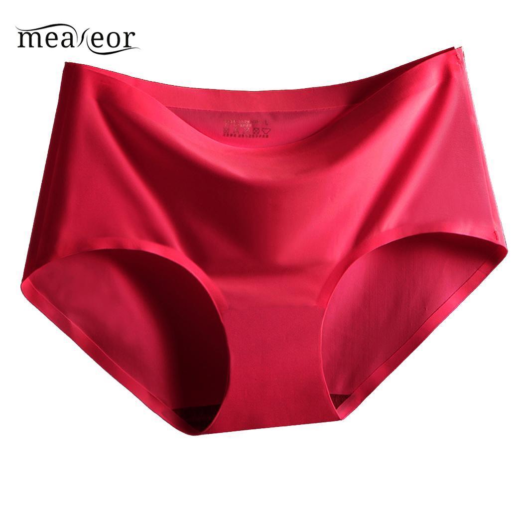 Large size Underwear Women High elasticity breathable Seamless female underpants Mid-waist ice silk sexy   Panties   women pants